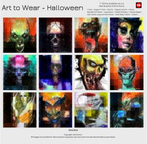 Halloween Art to Wear by Rafael Salazar