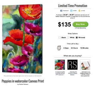 Poppies In Watercolor - Limited Time Promotion